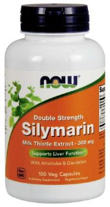 Silymarin Double Strength 300 mg 100 Veg Capsules NOW Foods