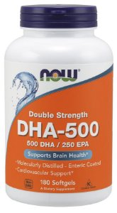 DHA 500mg 180 Softgels NOW Foods