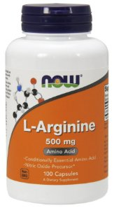 Arginina 500mg 100 CAPS NOW Foods