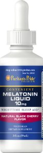 Melatonina Líquida 10mg 2oz 59ml Sabor Cherry  PURITANS Pride