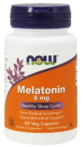 Melatonina 5mg 60 veg caps NOW Foods