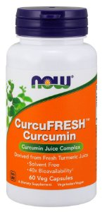 CurcuFRESH Curcumin 60 Veg Capsules NOW Foods