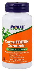 CurcuFRESH Curcumin 60 Veg Capsules NOW Foods