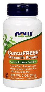 CurcuFRESH Curcumin em Pó 57g NOW Foods