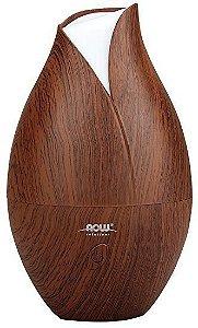 Difusor Ultrasonic Faux Wood Essential Oil NOW Foods