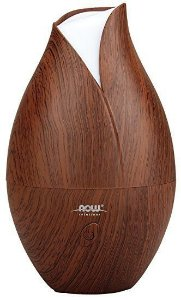 Difusor Ultrasonic Faux Wood Essential Oil NOW Foods FRETE GRATIS