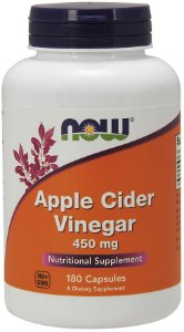Apple Cider Vinegar 450 mg 180 Capsules NOW Foods