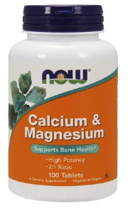 Calcium Magnesium 100 Tablets NOW Foods