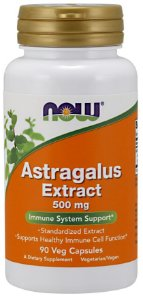 Astragalus Extract 500 mg 90 Vegcaps NOW Foods