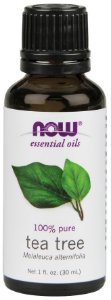 Óleo essencial de Tea Tree melaleuca 1oz 30ml NOW Foods