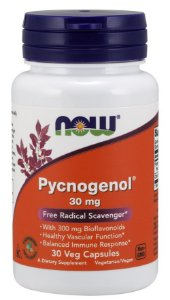 Pycnogenol 30 mg 30 Veg Capsules NOW Foods