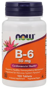 Vitamin B6 50 mg 100 Tablets NOW Foods