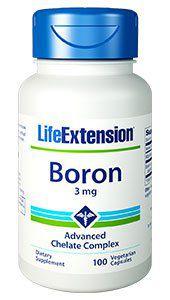 Boron 3 mg 100 veg caps LIFE Extension
