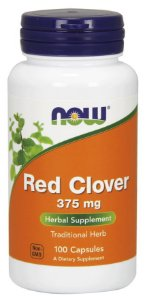 Red Clover 375 mg 100 Capsules NOW Foods
