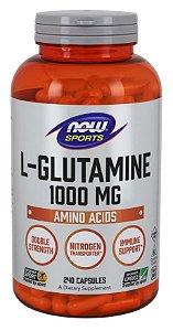 Glutamine Glutamina 1000mg  240 capsulas NOW Foods FRETE GRATIS