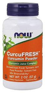 CurcuFRESH Curcumin powder em pó 57g NOW Foods FRETE GRATIS
