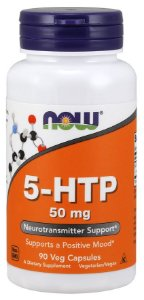 5 HTP 50 mg 90 Veg Capsules NOW Foods