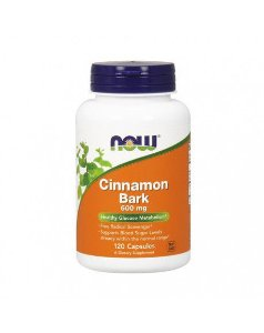 Cinnamon Bark 600 mg  120 Veg Capsules NOW Foods