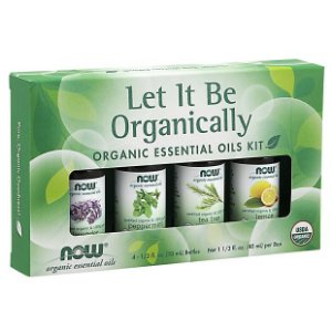 kit de Óleos Essenciais  Let It Be Organically Organic 40ml NOW Foods FRETE GRATIS