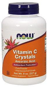 Vitamina C Crystals em pó 8oz 227g NOW Foods