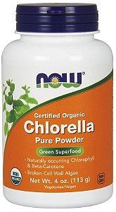 Chlorella Powder Organic em pó 113 g NOW Foods