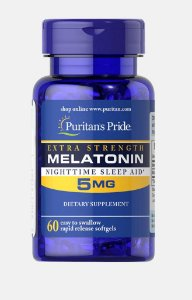 Melatonina 5 mg  60 softgels PURITANS Pride