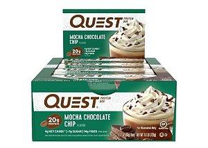 Quest Bar mocha chocolate chip  Caixa com 12 Unidades Frete Grátis