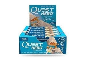 Quest bars HERO Lançamento Vanilla Caramel FRETE GRÁTIS