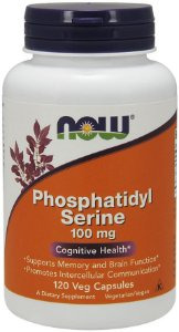 Phosphatidyl Serine 100mg 120 veg Capsules NOW Foods