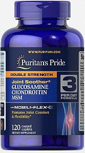 Glucosamina e Chondroitina Double Strength & MSM 120 caplets PURITANS - FRETE GRATIS