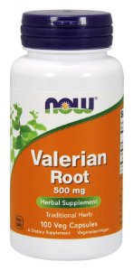 Valerian Root 500 mg  100 Capsules NOW Foods