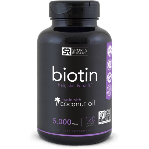 Biotin 5000mcg 120  Veggies Softgel SPORTS Research