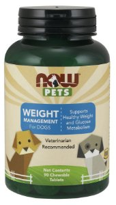 Weight Management for Dogs para cães 90 Chewable Tablets NOW Pets