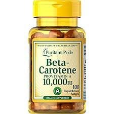 Beta Carotene 10000 IU 100 softgels PURITANS Pride