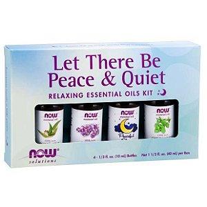 Kit de Óleos Essencias Let There Be Peace & Quiet Oil Kit 40 ml NOW Foods FRETE GRATIS