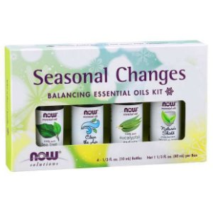 Kit de Óleos Essenciais Seasonal Changes Balancing 40ml NOW Foods FRETE GRATIS