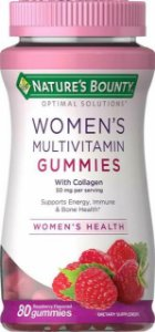 Womens Multivitaminico para mulher 80 gummies Rapsberry NATURES Bounty