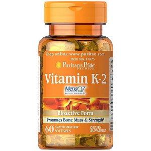 Vitamina K 2 MenaQ7 50 mcg 60 Softgels PURITAN S Pride