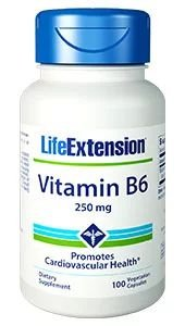 Vitamin B6 Vitamina B6 250mg 100 capsules LIFE Extension