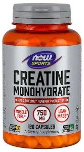 Creatine Monohydrate creatina monohidratada 750 mg 120 Capsules NOW Foods