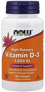 Vitamin D 3 1000 IU 180 Softgels NOW Foods