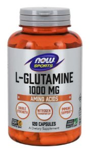 L Glutamine glutamina , Double Strength 1000 mg 120 Capsules NOW Foods