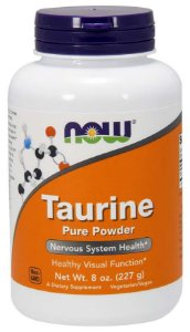 Taurine taurina em pó Pure Powder 8 oz 227g NOW Foods