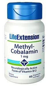 Methylcobalamin metilcobalamina 1mg 60 lozenges LIFE Extension
