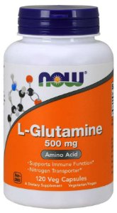 L Glutamine glutamina 500 mg 120 Capsules NOW Foods