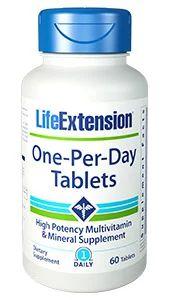 One Per Day Multivitaminico um por dia 60 Tablets LIFE Extension