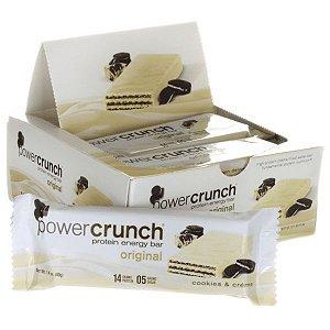 Power Crunch cookies e creme Barrinha Caixa com 12 unidades FRETE GRATIS