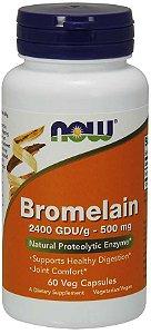 Bromelain 500 mg 60 Veg Capsules NOW Foods