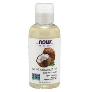 Óleo de coco liquido coconut oil 4oz NOW