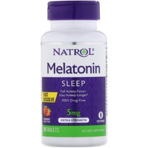 Melatonina 5mg FAST DISSOLVE sublingual 90 tablets Sabor morango NATROL